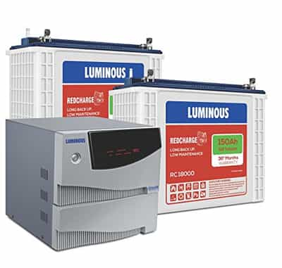 Luminous Cruze 2KVA Inverter With RC 18000 Battery